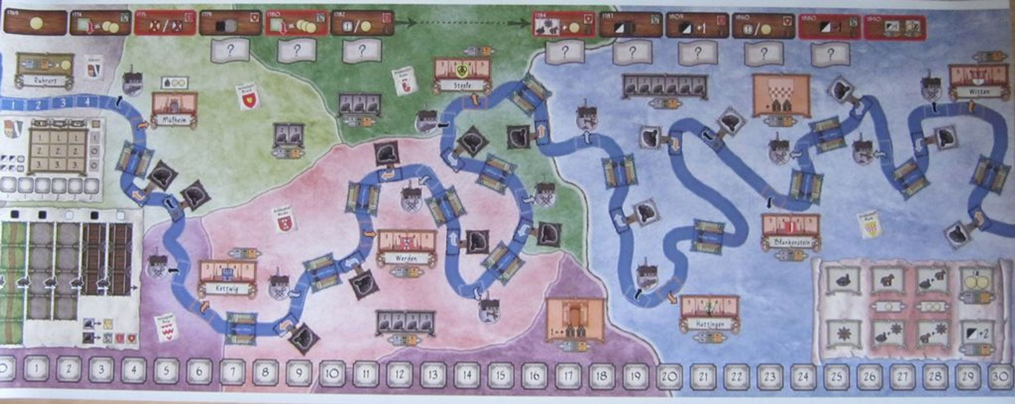 The Ruhr: A Story of Coal Trade game board