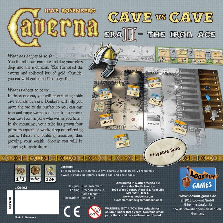 Caverna: Cave vs Cave - Era II: The Iron Age back of the box