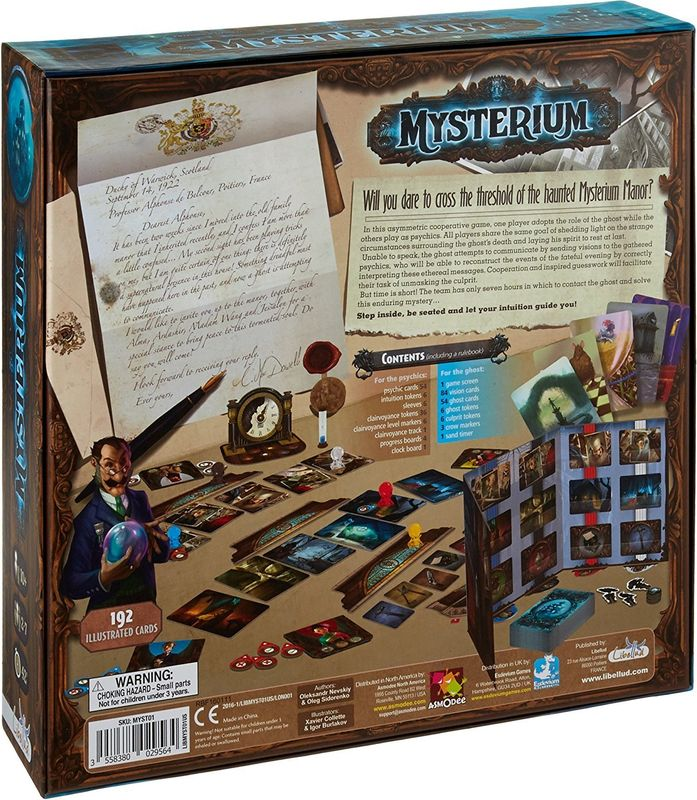 Mysterium back of the box