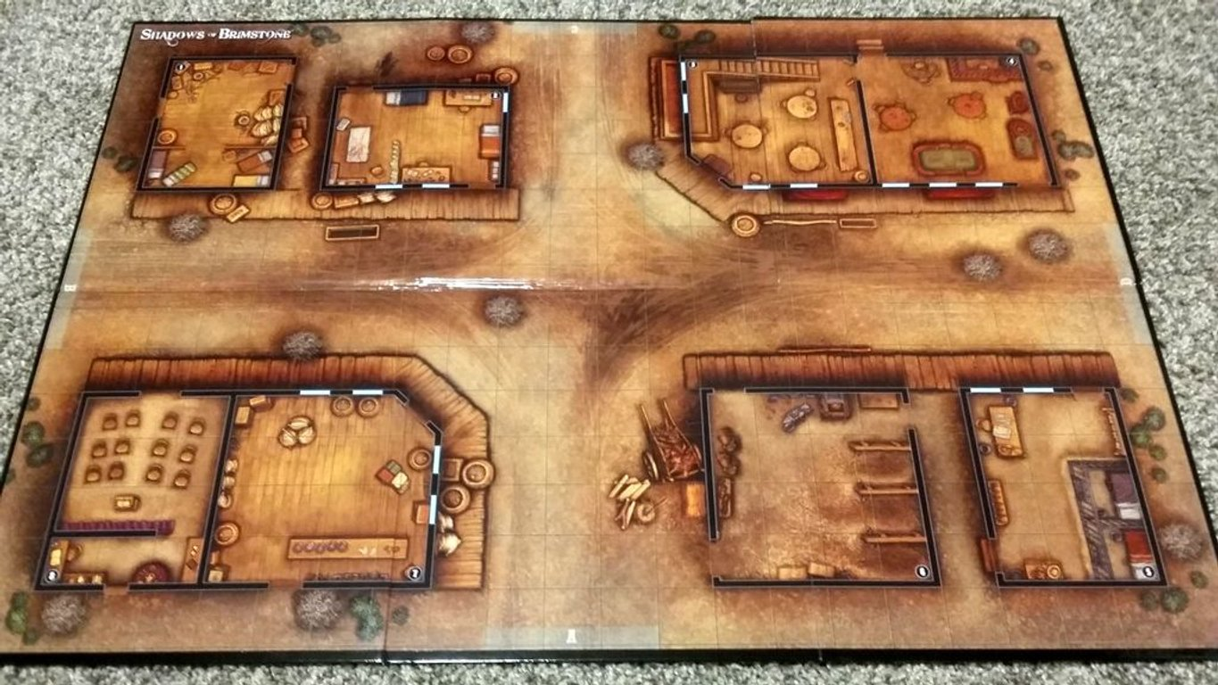 Shadows of Brimstone: Frontier Town Expansion game board