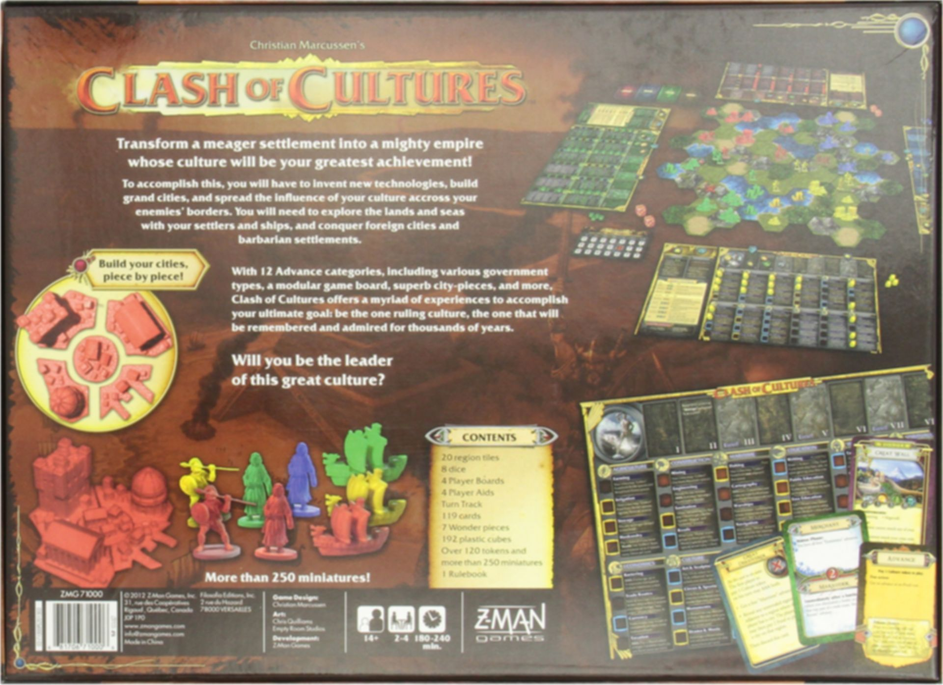 Clash of Cultures back of the box