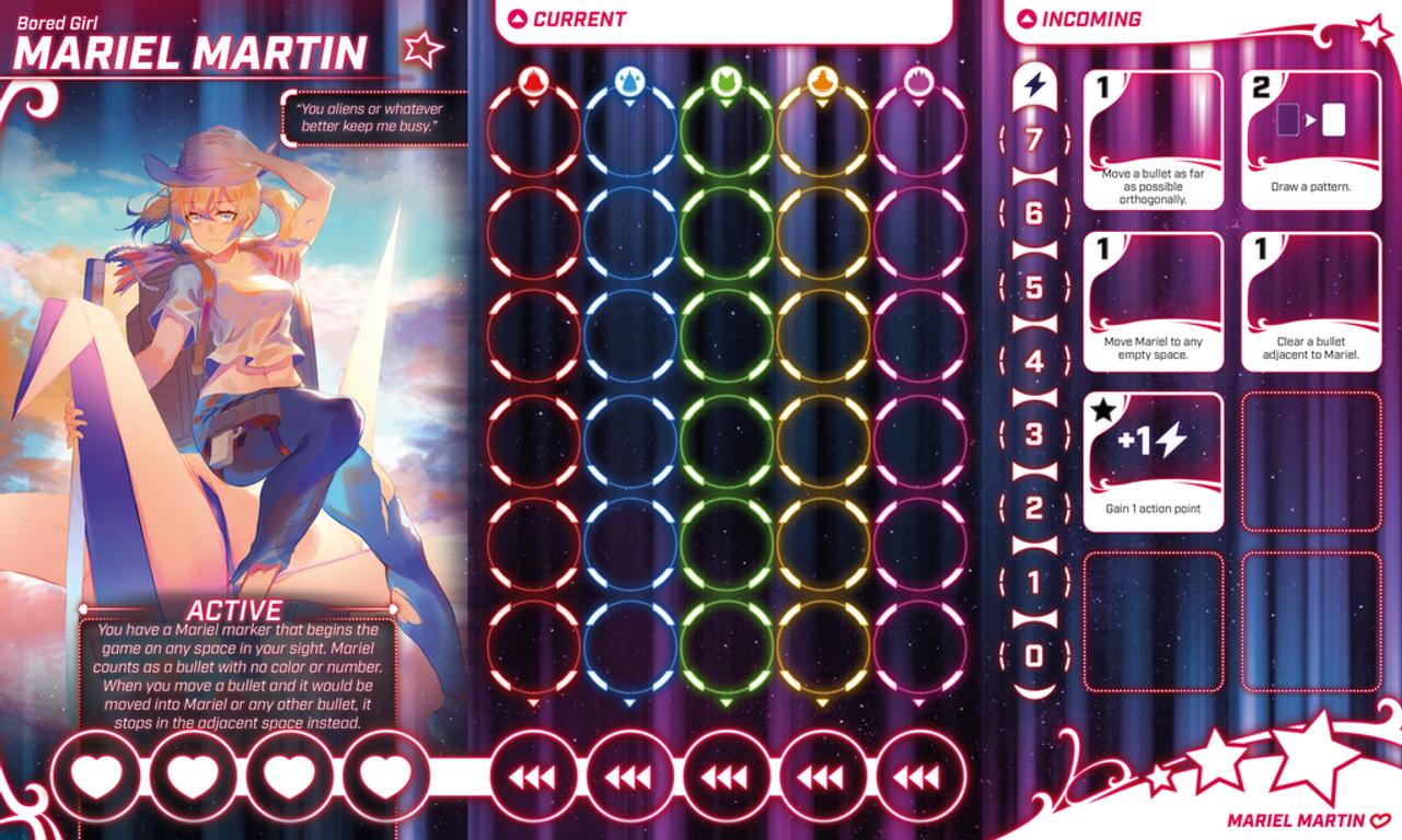 Bullet♥︎ game board