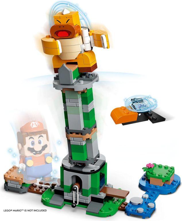 LEGO® Super Mario™ Boss Sumo Bro Topple Tower Expansion Set gameplay