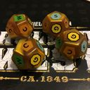 Rolled West dice