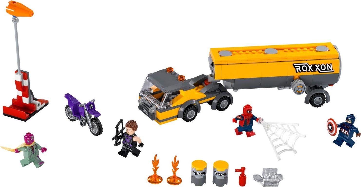 LEGO® Marvel Tanker Truck Takedown components