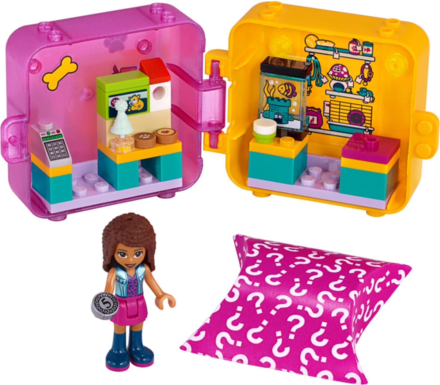 LEGO® Friends Andrea's Shopping Play Cube components