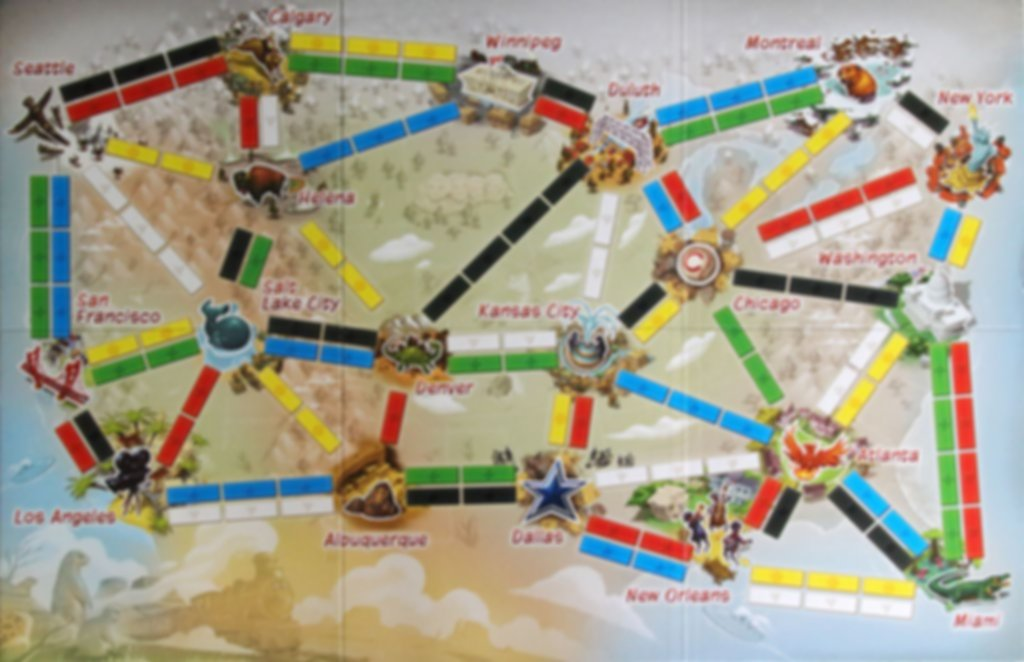 Ticket to Ride: First Journey game board