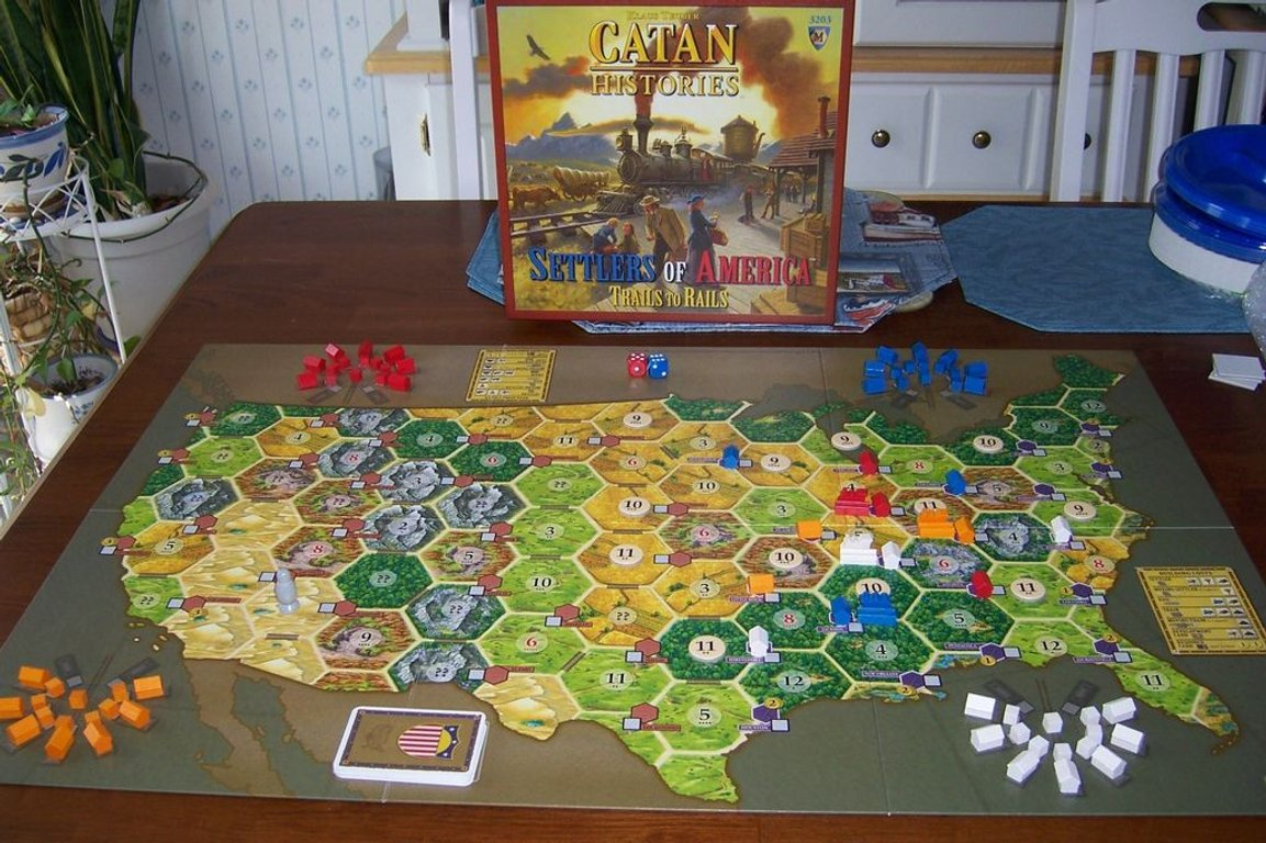 Catan Histories: Settlers of America - Trails to Rails components