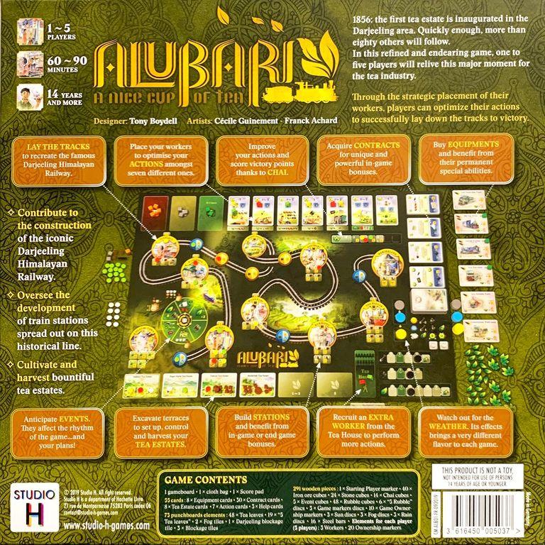 Alubari: A Nice Cup of Tea back of the box