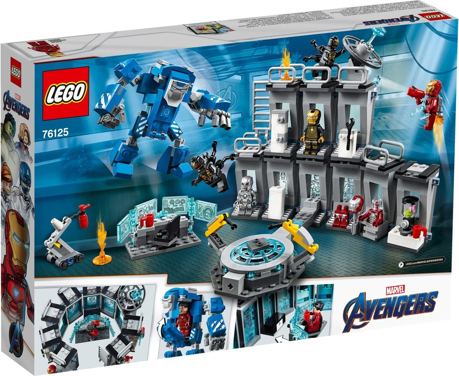 LEGO® Marvel Iron Man Hall of Armor back of the box