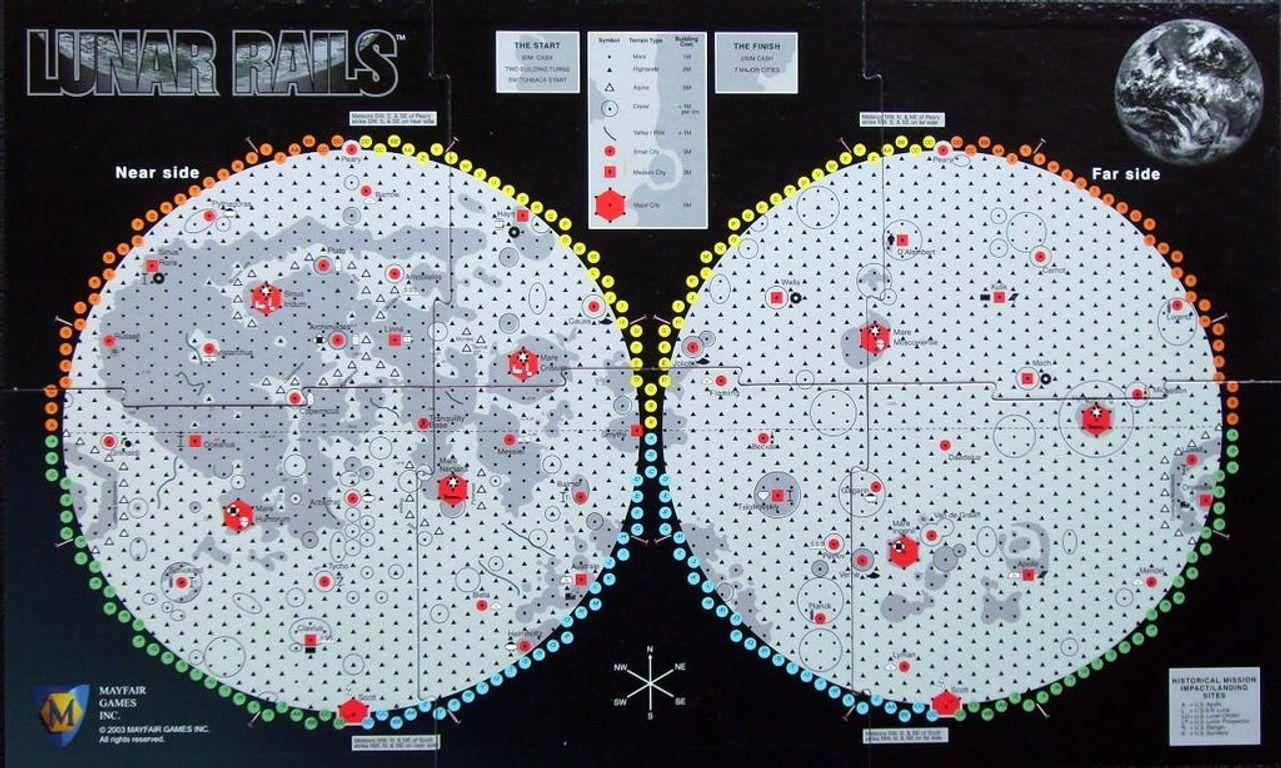 Lunar Rails game board