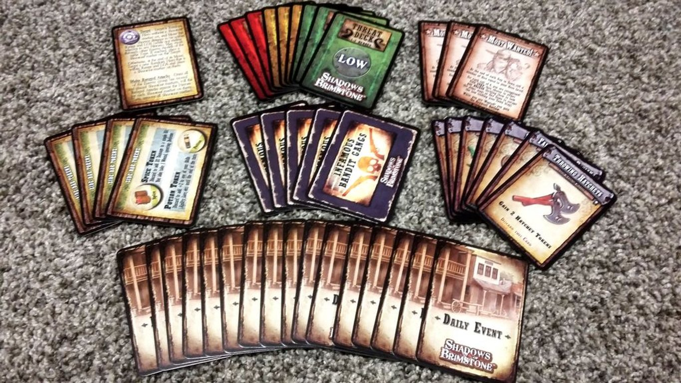 Shadows of Brimstone: Frontier Town Expansion cards