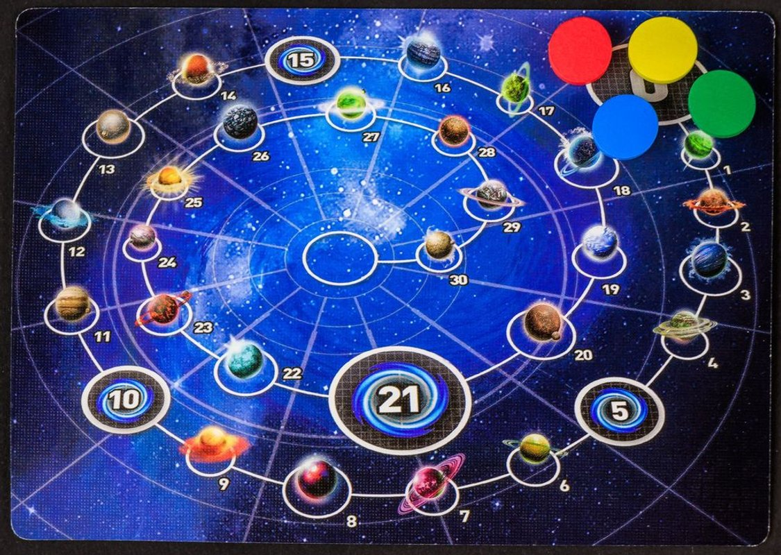 Tiny Epic Galaxies: Beyond the Black game board