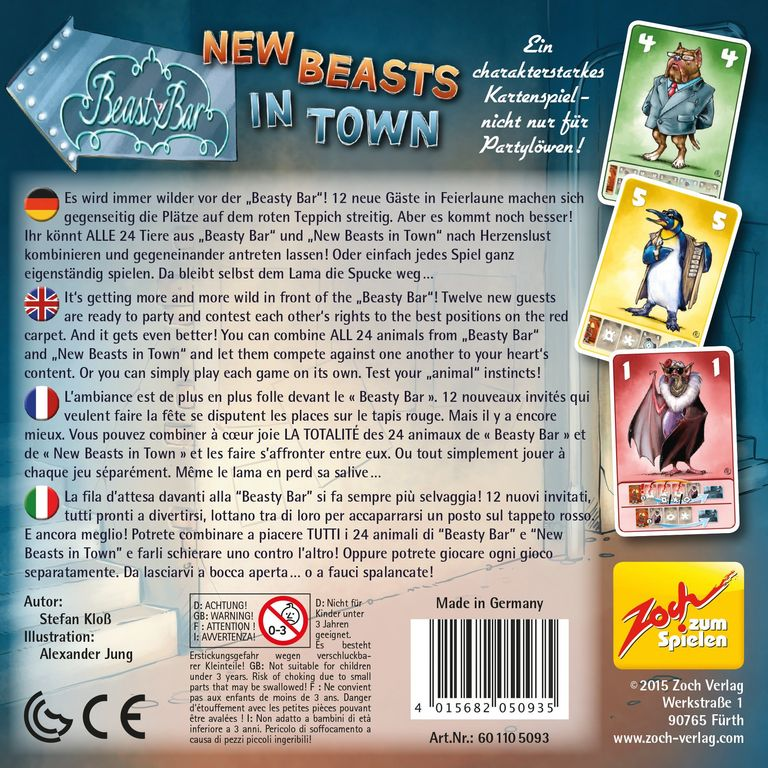 Beasty Bar: New Beasts in Town back of the box