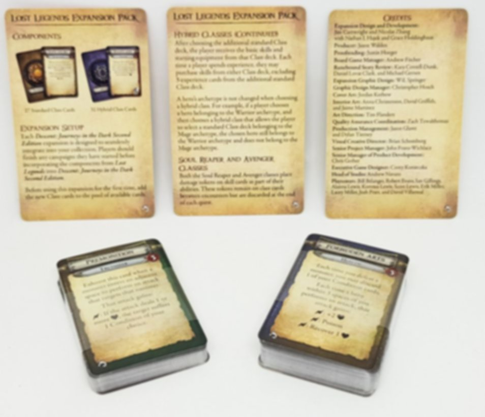 Descent: Journeys in the Dark (Second Edition) - Lost Legends Expansion Pack components