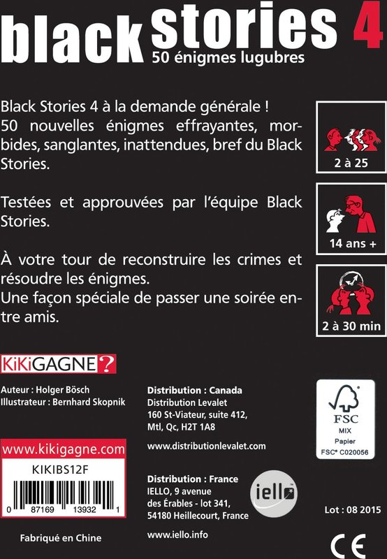Black Stories 4 back of the box