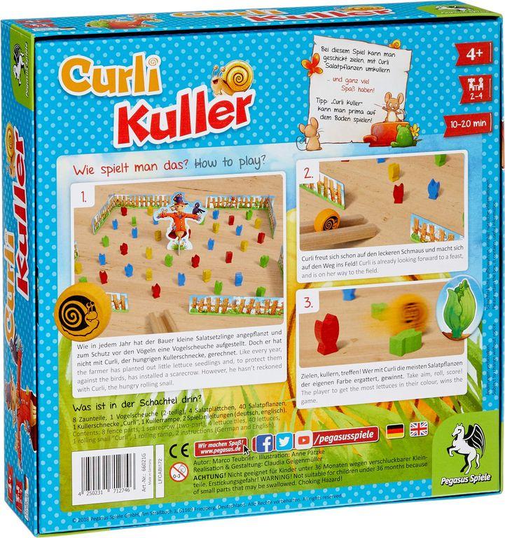 Curli Kuller back of the box