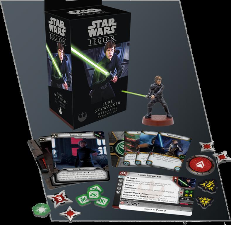 Star Wars: Legion - Luke Skywalker Operative Expansion components
