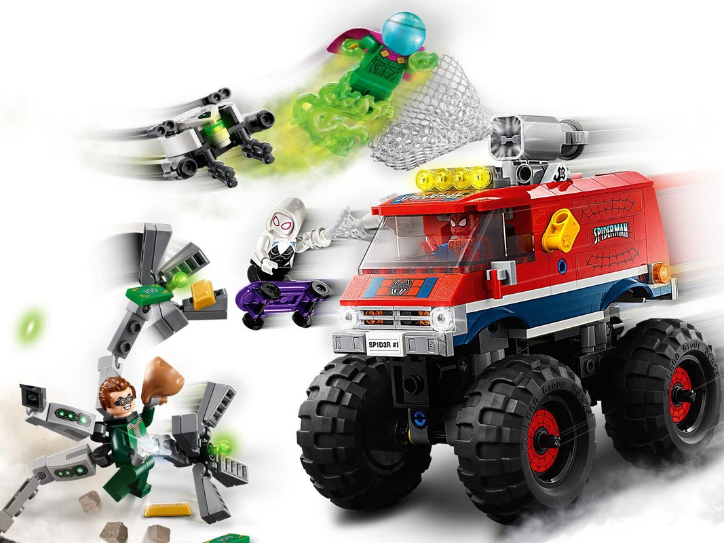 Spider-Man's Monster Truck vs. Mysterio gameplay