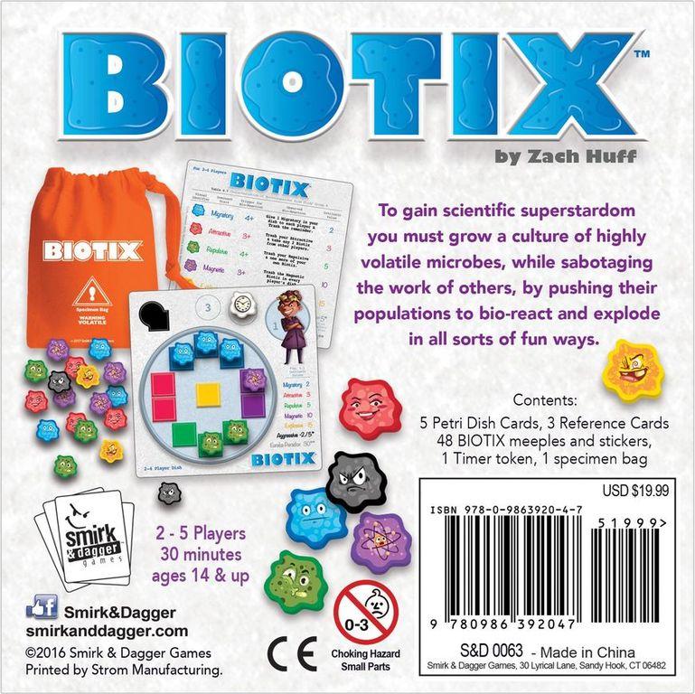 BIOTIX back of the box