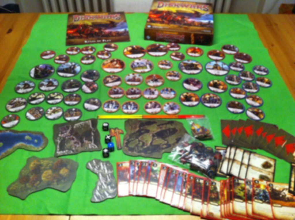 Warhammer: Diskwars - core set components