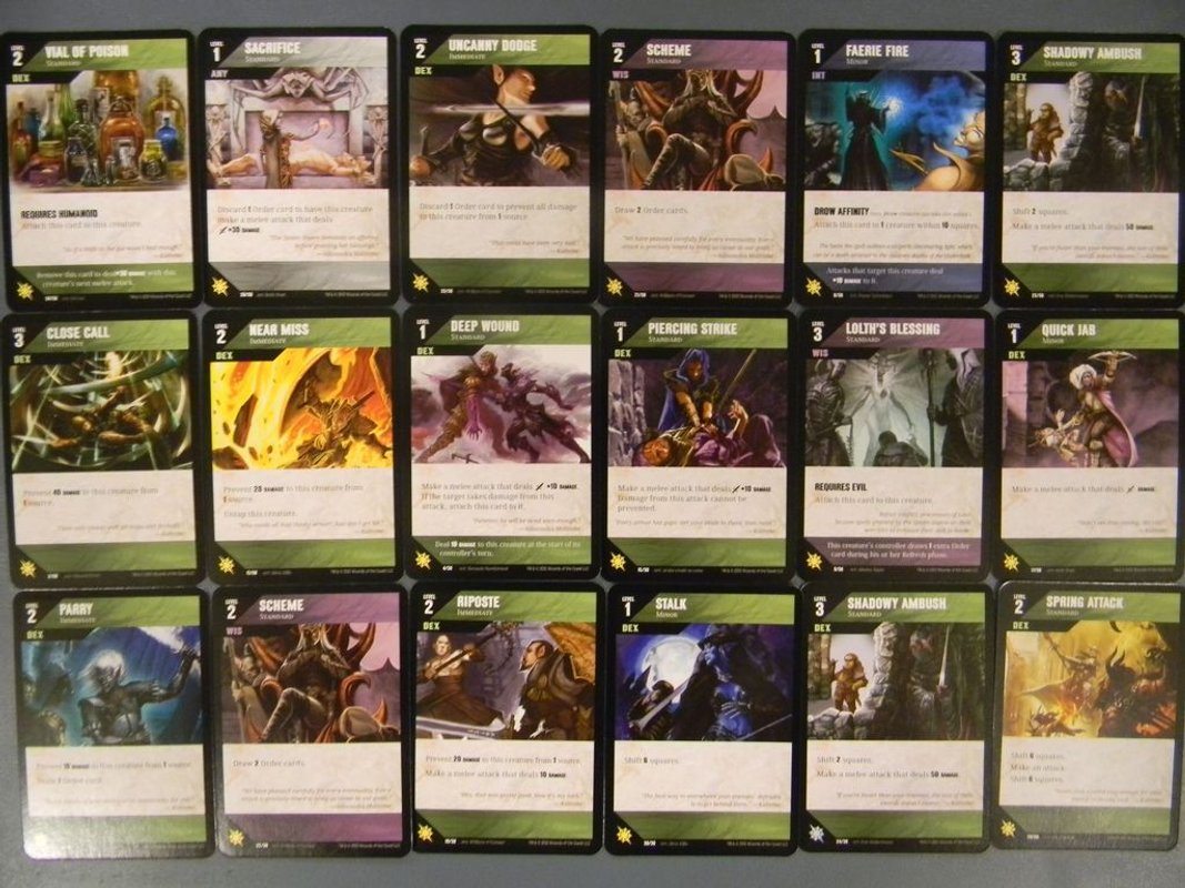 Dungeon Command: Sting of Lolth cards