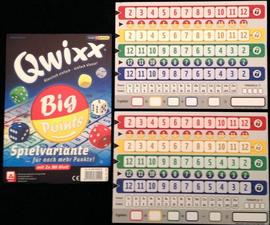Qwixx: Big Points components