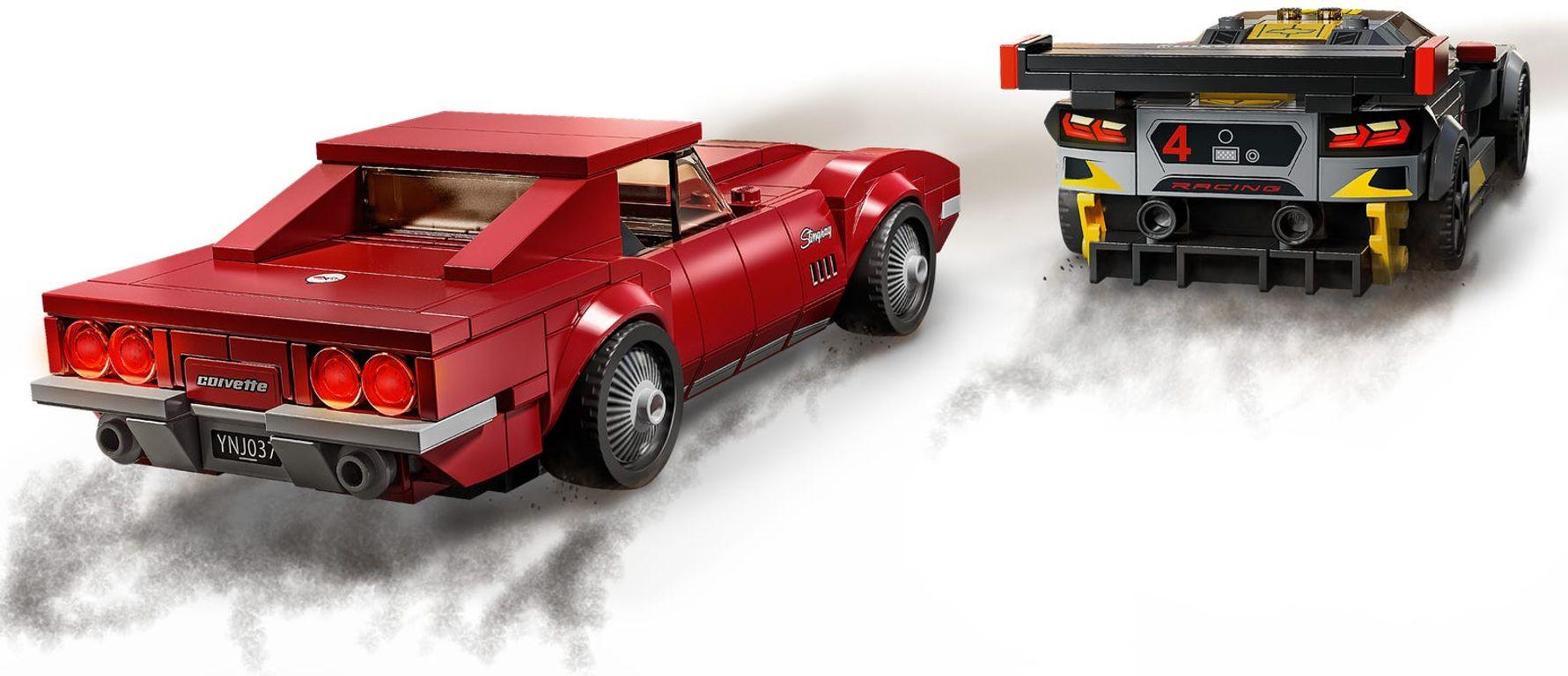 LEGO® Speed Champions Chevrolet Corvette C8.R Race Car and 1968 Chevrolet Corvette back side