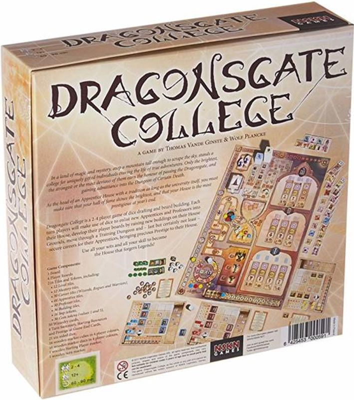 Dragonsgate College back of the box