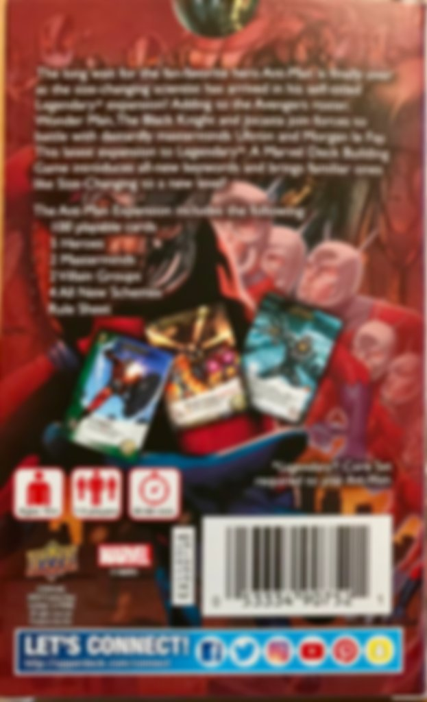 Legendary: A Marvel Deck Building Game - Ant-Man back of the box