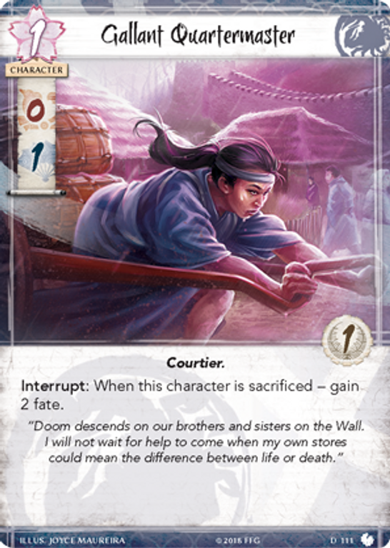 Legend of the Five Rings: The Card Game - Shoju's Duty gallant quartermaster card