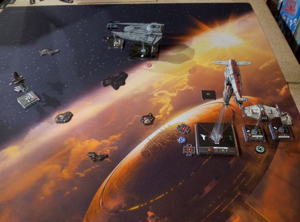 Star Wars: X-Wing Miniatures Game - Resistance Bomber Expansion Pack gameplay