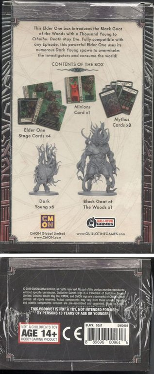 Cthulhu: Death May Die – Black Goat of the Woods back of the box