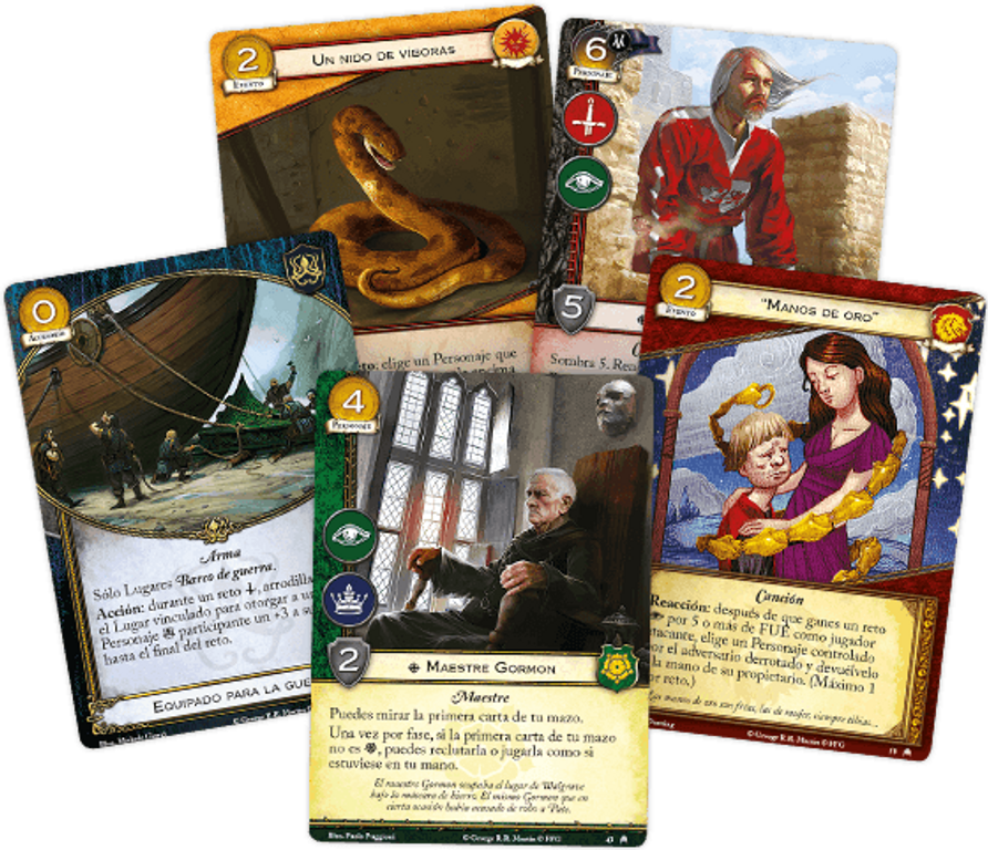 A Game of Thrones: The Card Game (Second Edition) - Pit of Snakes cards