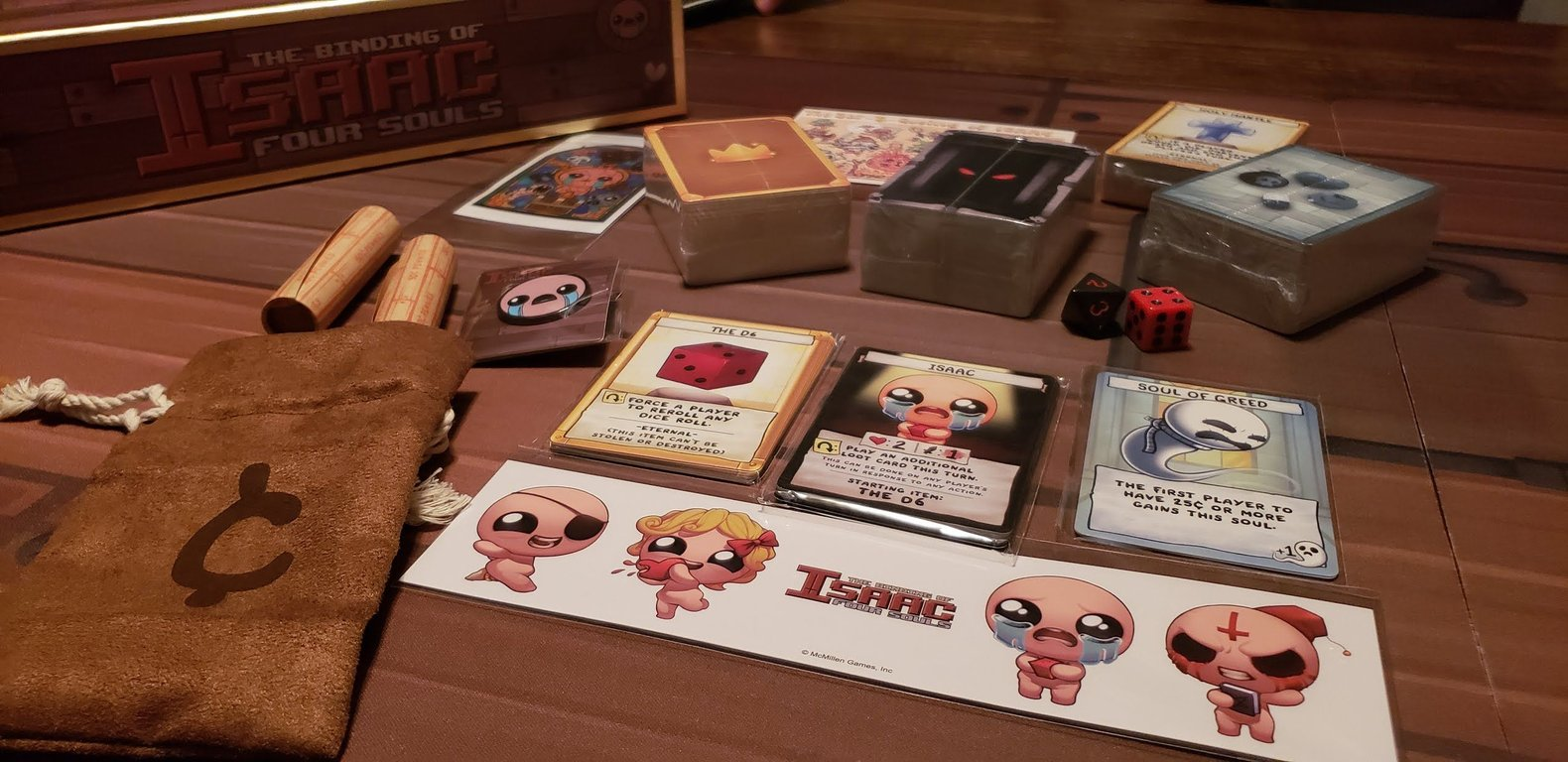 The Binding of Isaac: Four Souls components