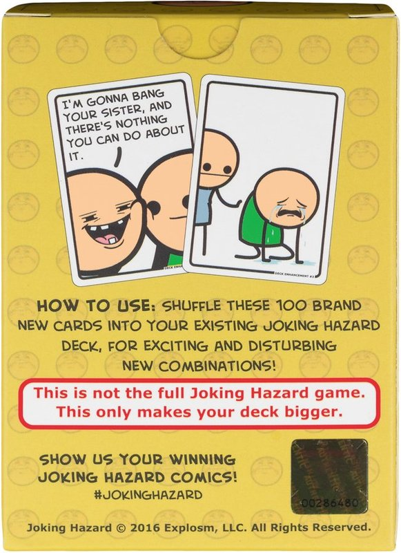 Joking Hazard: Deck Enhancement #2 back of the box