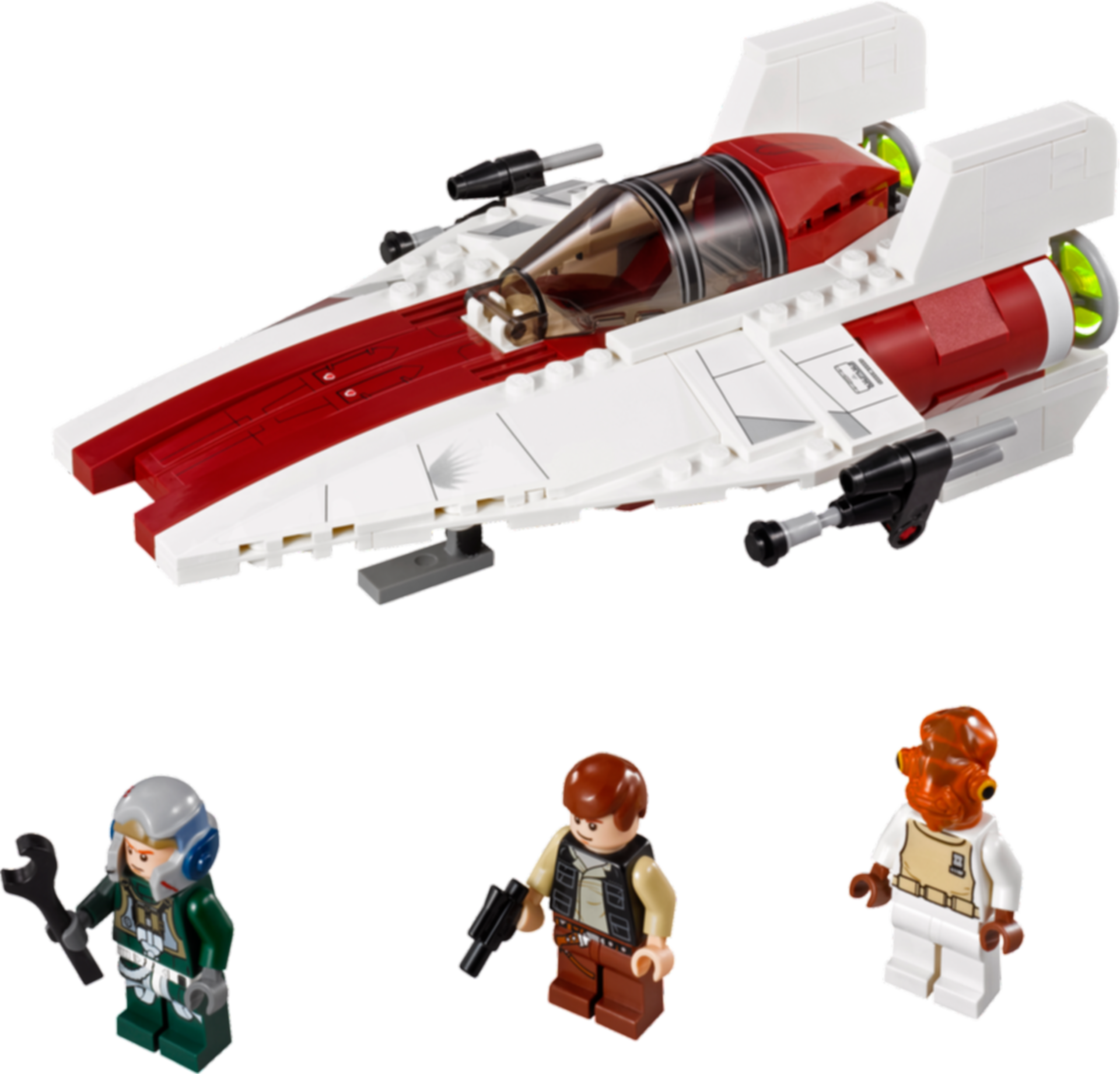 LEGO® Star Wars A-wing Starfighter components