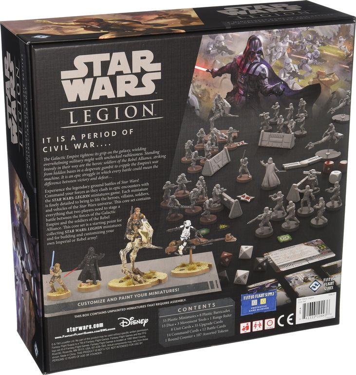 Star Wars: Legion back of the box