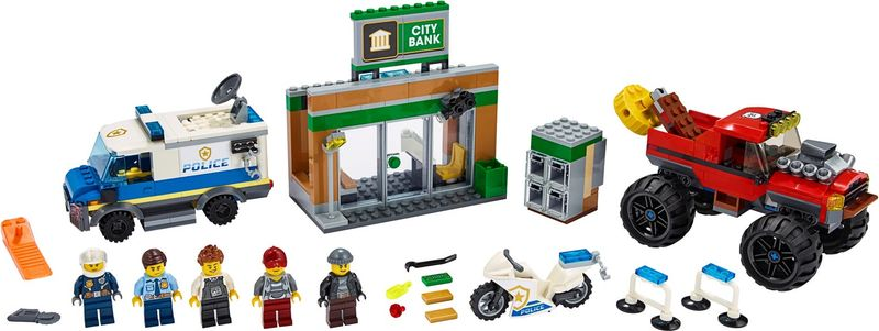 LEGO® City Police Monster Truck Heist components