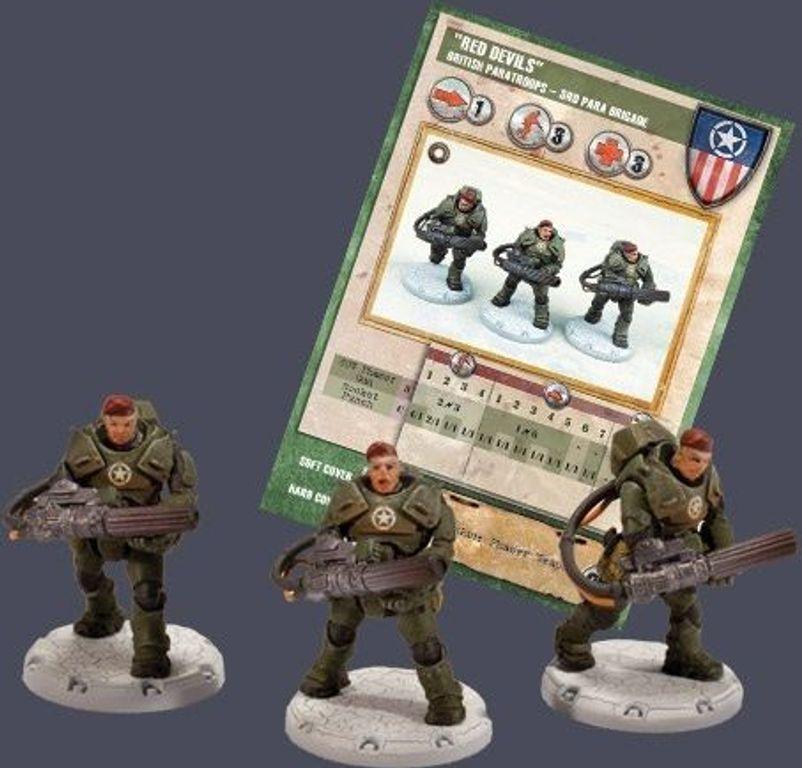 """Dust Tactics: British Paratroops, 3rd Para Brigade - """"Red Devils"""" components"""