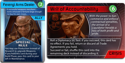 Star Trek: Ascendancy - Ferengi Alliance Arms dealer cards