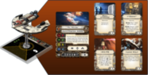 Star Wars: X-Wing Miniatures Game - Punishing One components
