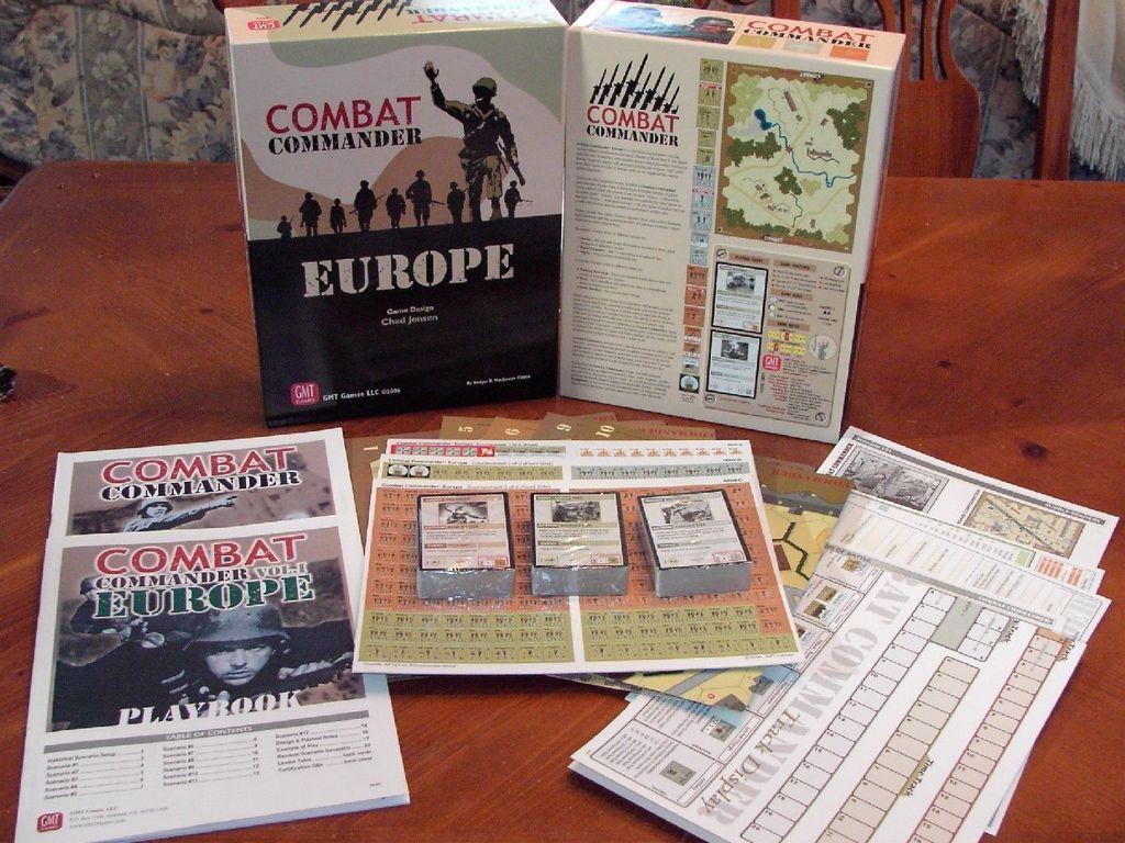 Combat Commander: Europe components