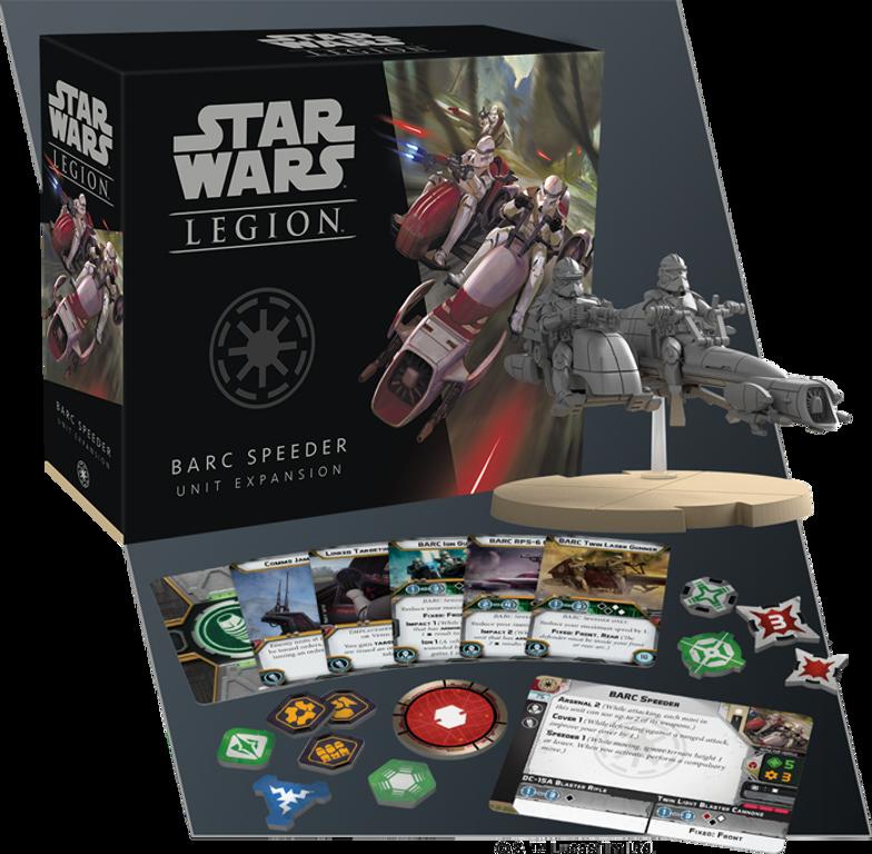 Star Wars: Legion - BARC Speeder Unit Expansion components