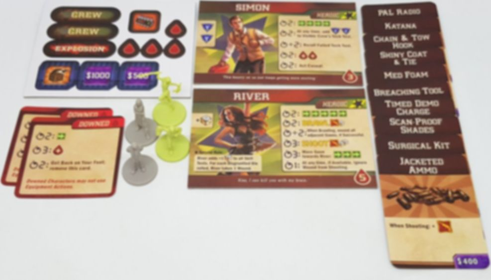 Firefly Adventures: Brigands and Browncoats - Wanted Fugitives components