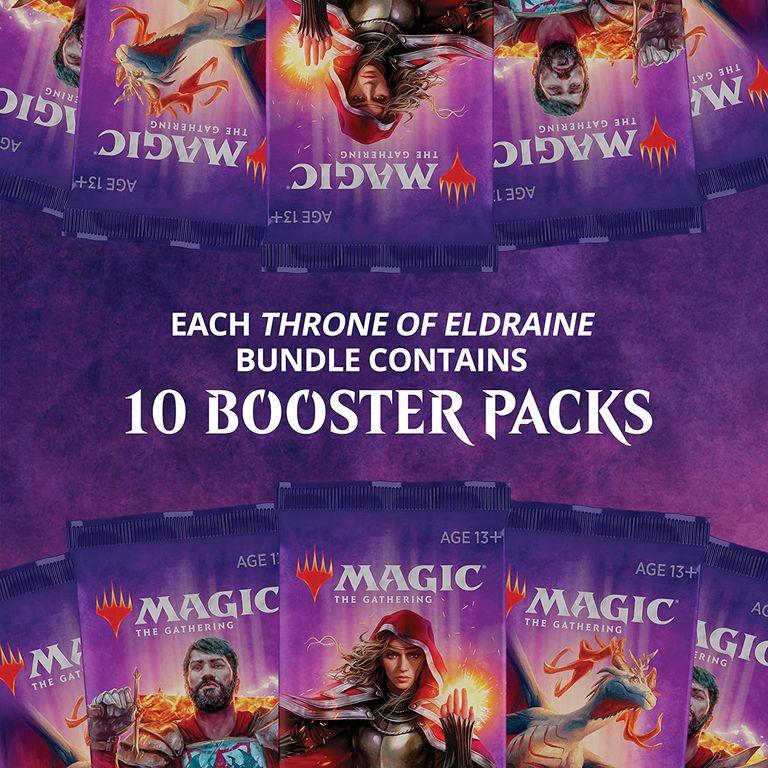 Magic: The Gathering Throne of Eldraine Bundle components