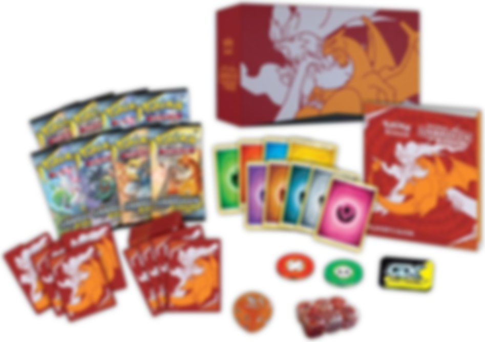 Pokémon TCG: Sun & Moon - Unbroken Bonds Elite Trainer Box partes