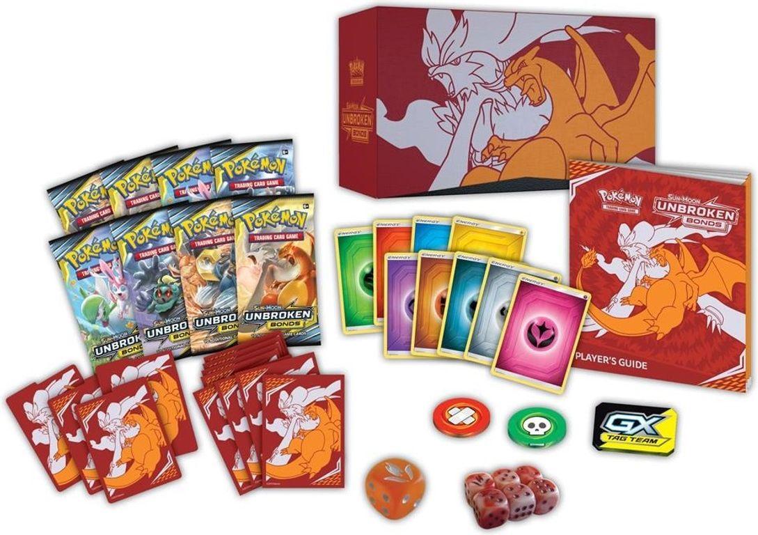 Pokémon TCG: Sun & Moon - Unbroken Bonds Elite Trainer Box componenti