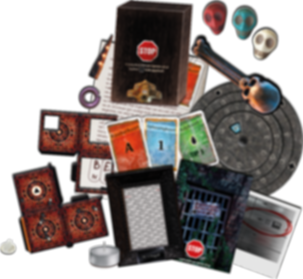 Exit: The Game - The Catacombs of Horror components