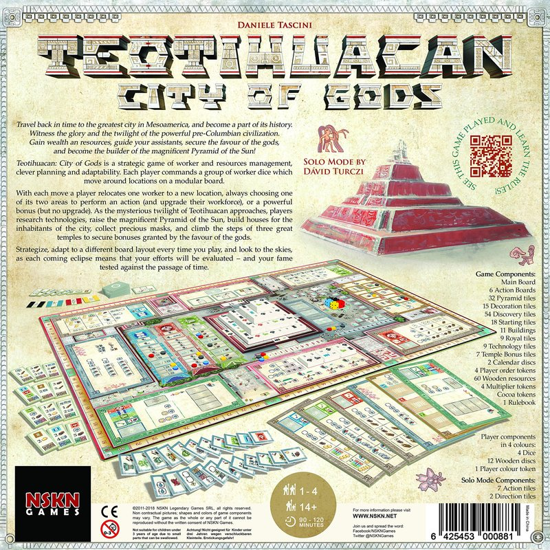 Teotihuacan: City of Gods back of the box